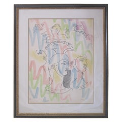 """La Chapelle St. Pierre"" Framed Lithography by Jean Cocteau"