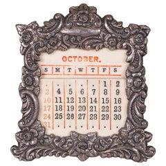 Baldwin & Gleason Co. 1893 Silver Perpetual Calendar