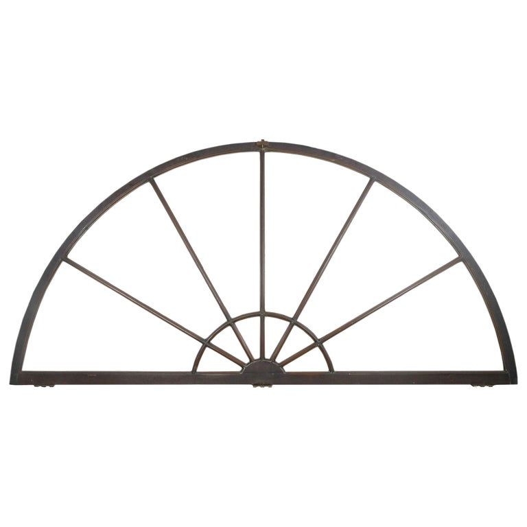 Large Bronze Clad Arched Windows For Sale