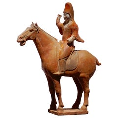 Tang Dynasty Horse and Polo Rider, '618 AD to 906 AD' Attributed