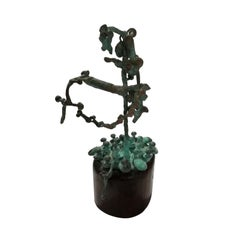 Pal Kepenyes, Tree, Brutalist Kinetic Bronze Sculpture