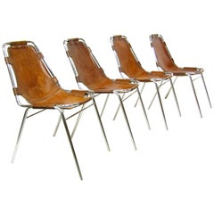 """Set of Four Charlotte Perriand """"Les Arcs"""" Chairs by Cassina"""