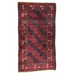 Antique Tribal Turkmen Baluch Afghan Rug