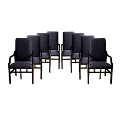 Vintage Henredon Purple Upholstered Dining Chairs, Set of 8