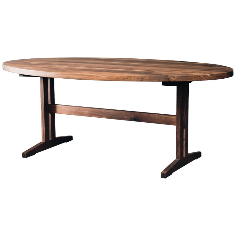 Hingham Oval Dining Table With Walnut