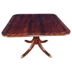 Square Mahogany Georgian Style Accent Foyer Table by Leighton Hall