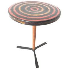 Londi Bitossi Italian Pottery Bullseye Table