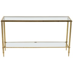 French Brass and Glass Console