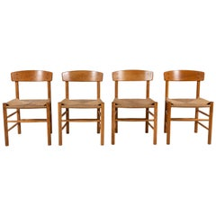 Set of Four Børge Mogensen Dining Chairs