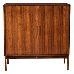 Vintage Danish Rosewood Bar Cabinet