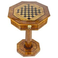 Biedermeier Chess Table Oakwood, Austria, circa 1840