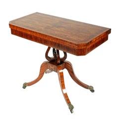 Fine Georgian Kingwood Card Table