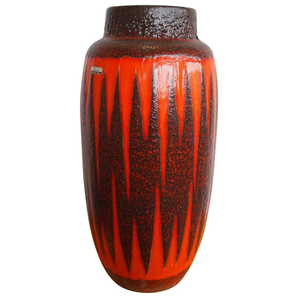 """""""Scheurich"""" Ceramic Vase with """"Fat Lava"""" Glaze from the 1960s"""