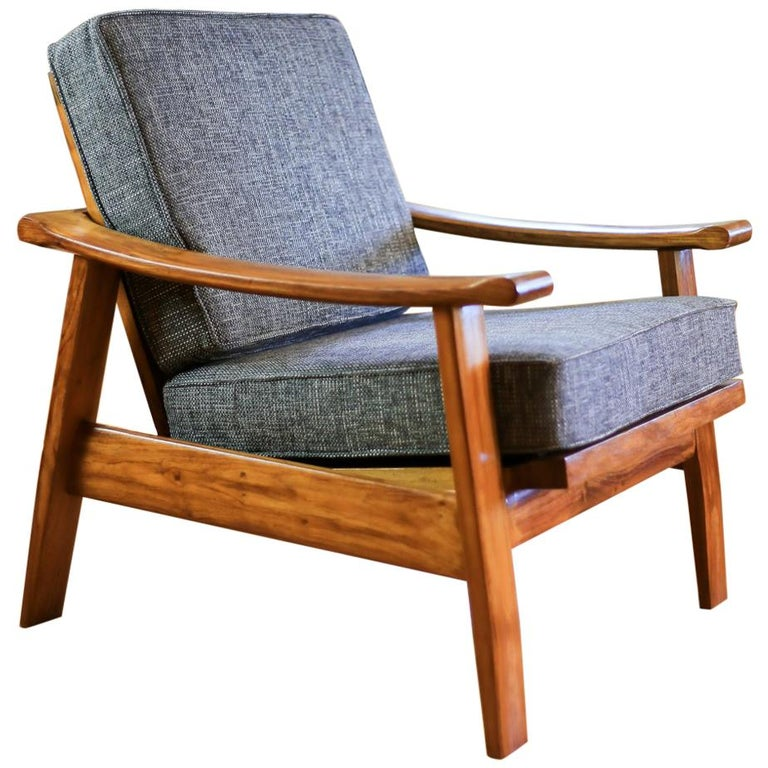 African Teak Mid Century Modern Armchairs For Sale At 1stdibs