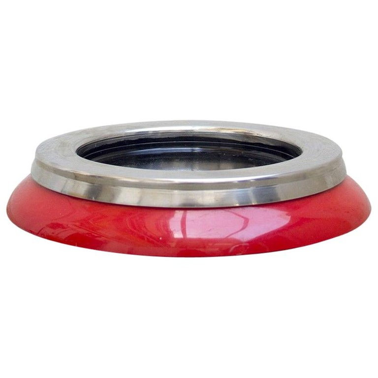 1970s Red Ashtray by Sergio Asti for Kartell For Sale