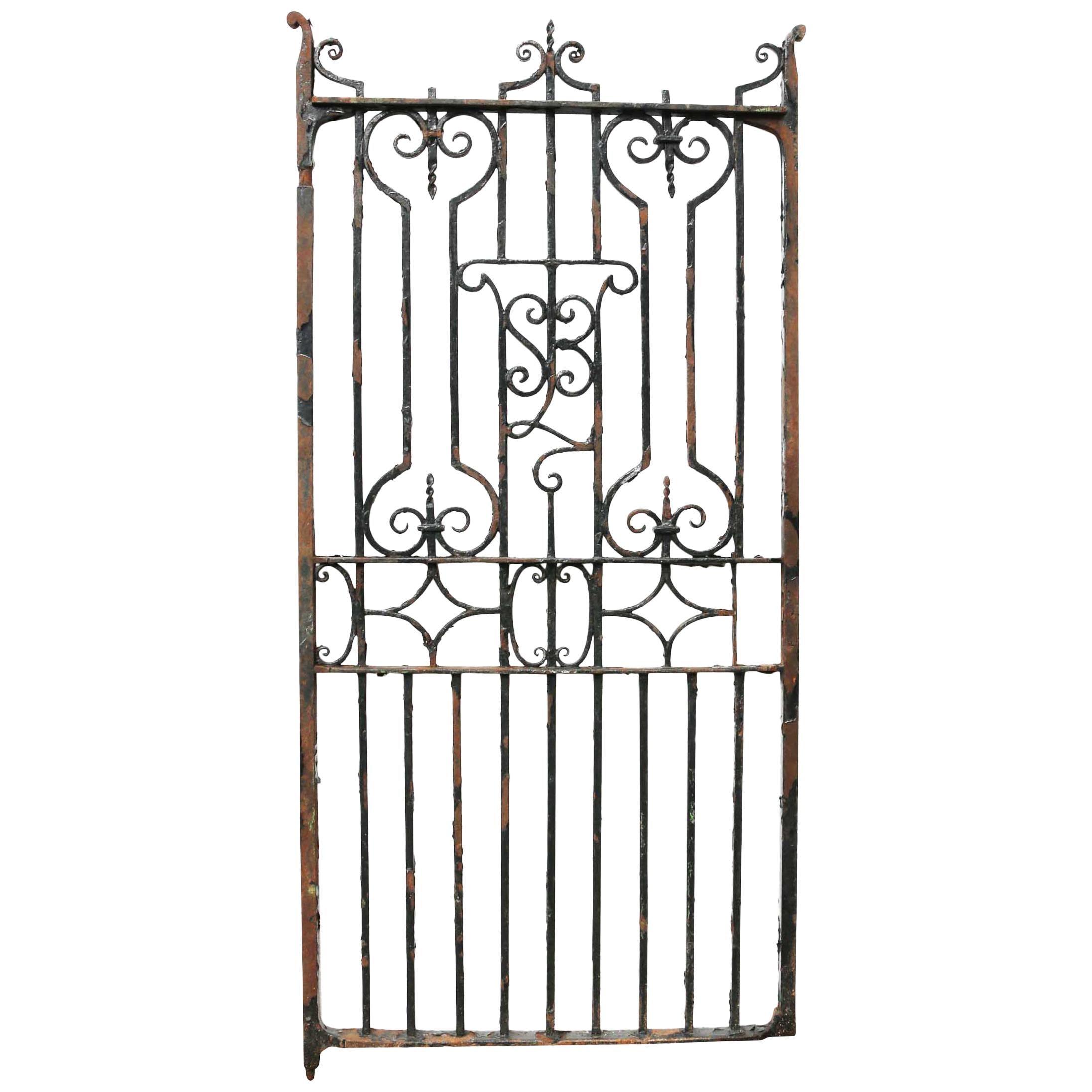 Antique English Wrought Iron Garden / Pedestrian Gate
