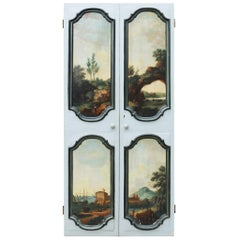 Pair of Antique Doors Painted with Classical Scenes