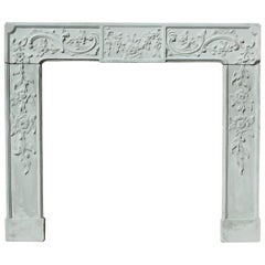 Antique English Carved Stone Fire Surround
