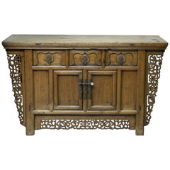 Oriental Commode, Wood, Metal, circa Early 20th Century