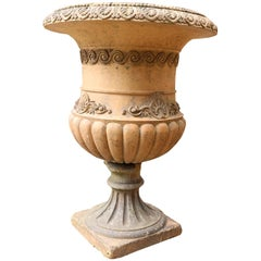 Antique Terracotta Garden Planters or Urns