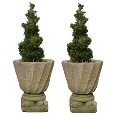 Pair Of Stone Garden Urns or Planters