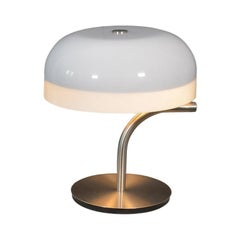 Table Lamp by Giotto Stoppino for Valenti Luce, White Pivoting Lampshade, 1970s