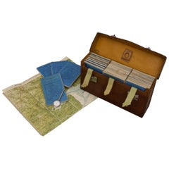 Leather Cased Set of Maps of England and Wales, circa 1920