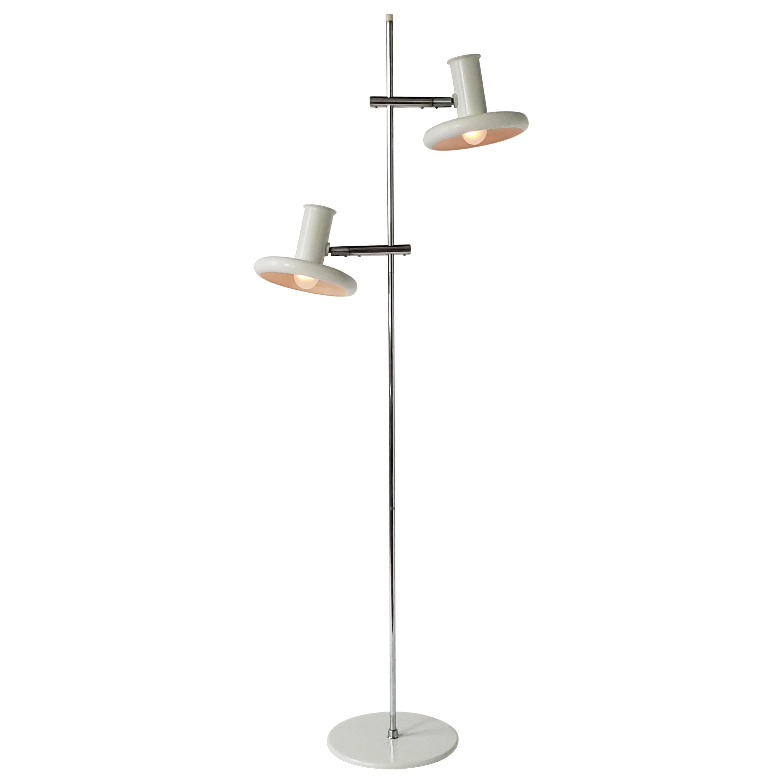 Fog & Mørup Optima Floor Lamp with 2 Shades, 1960s, Denmark