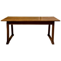 Heal & Son Arts & Crafts Oak Refrectory Dining Table c1905