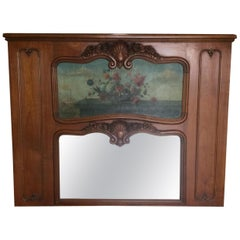 Antique French Trumeau Mirror