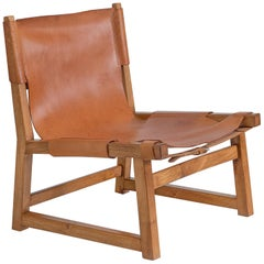 Paco Muñoz 'Riaza' Hunting Chair in Walnut and Leather