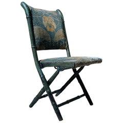 Rare Regency Period Faux Bamboo Folding Campaign Chair, circa 1815