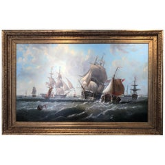 Large Marine/Seascape by George Chambers 'English 1803-1840'