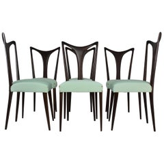 Italian Vintage Dining Chairs Attributed to Guglielmo Ulrich, Set of Six, 1940s