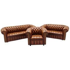 Chesterfield Sofa Set Armchair Leather