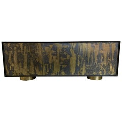 Bridges over Time Originals Brass and Iron Sculpted Credenza