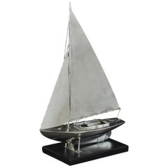 Benzie's Sterling Silver Model Yacht, Hallmarked, 1935