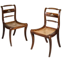 Pair of Regency Painted Klismos Chairs