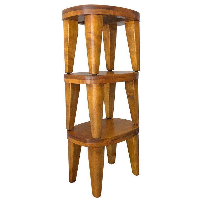 A Set of Three Unusual Libriary Stools For Sale