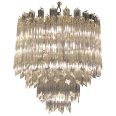20th Century Glass Tiered Chandelier by Paolo Venini