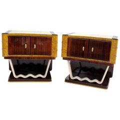 Vintage Night Tables in the Style of Osvaldo Borsani by Mobili Trieste, Set of 2
