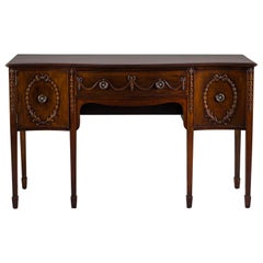 Edwardian English Sheraton Mahogany Sideboard, circa 1910