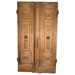 Pair of Antique 19th Century Handmade Pine Doors