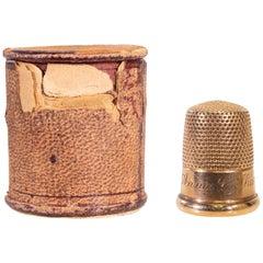 14-Karat Gold Victorian Thimble