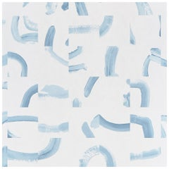 Schumacher Caroline Hurley Sepiessa Wallpaper in Sky, Two Panel Set