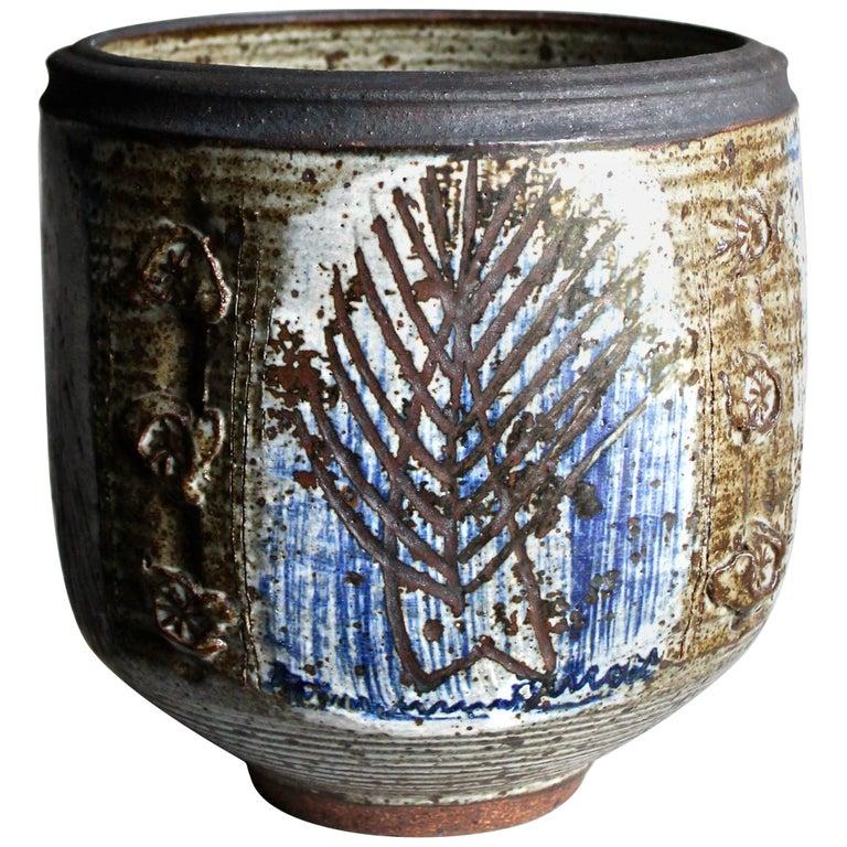 Viveka and Otto Heino Large Hand Thrown Ceramic Bowl