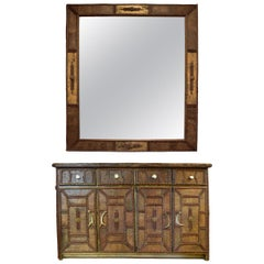 Birch Bark Entry Chest with Mirror