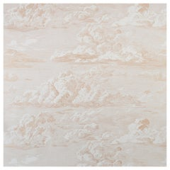 Schumacher Cloud Toile Wallpaper in Gold, Two-Roll Set