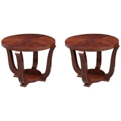 Pair of Art Deco Round Side Tables