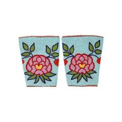 Native Nez Perce Beaded Floral Cuffs